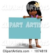 3d Hula Girl Clipart by Ralf61