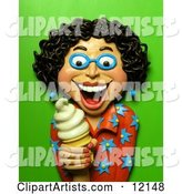 3d Ice Cream Clipart by Amy Vangsgard