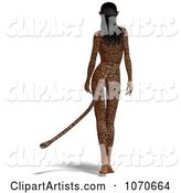 3d Jaguar Woman Clipart by Ralf61