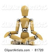 3d Mannequin Clipart by Stockillustrations
