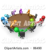 3d Meeting Clipart by 3poD