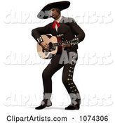 3d Mexican Guitarist Clipart by Ralf61