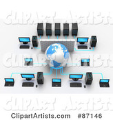 3d Networking Clipart by Tonis Pan
