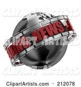 3d News Clipart by Stockillustrations