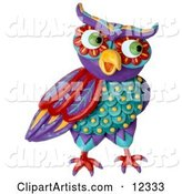 3d Owl Clipart by Amy Vangsgard