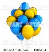 3d Party Balloons Clipart by Stockillustrations