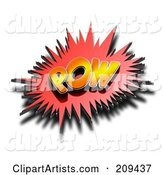 3d Pow Clipart by Stockillustrations