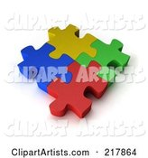 3d Puzzle Clipart by Stockillustrations