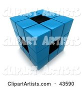 3d Puzzle Cube Clipart by Franck Boston