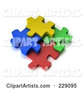 3d Puzzle Pieces Clipart by Stockillustrations