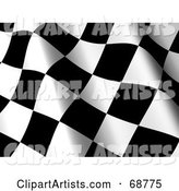 3d Race Flag Clipart by ShazamImages