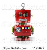 3d Robot Clipart by Stockillustrations