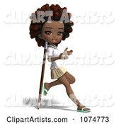3d School Girl Clipart by Ralf61