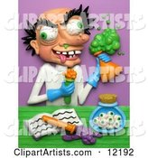 3d Scientist Clipart by Amy Vangsgard