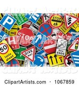 3d Signs Clipart by Stockillustrations