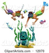 3d Snorkel Clipart by Amy Vangsgard