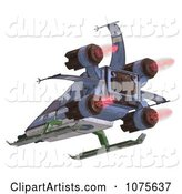 3d Spaceship Clipart by Ralf61