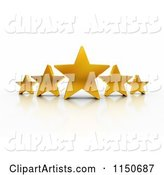 3d Stars Clipart by Stockillustrations