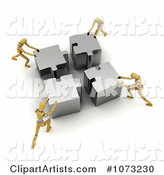 3d Teamwork Clipart by Stockillustrations