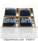 3d Tv Clipart by Franck Boston
