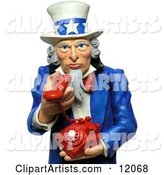 3d Uncle Sam Clipart by Amy Vangsgard