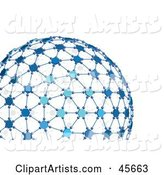 Blue Networked Globe
