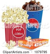 Fountain Soda Box of Candy and Movie Popcorn