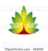 Green and Red Eco Leaf Design