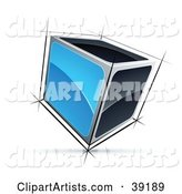 Pre-Made Logo of a Cube with Blue and Black Sides