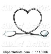 Stethoscope Forming a Heart