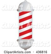 White and Red Barbers Pole