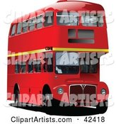 3d Vector Double Decker Bus Clipart by Leonid