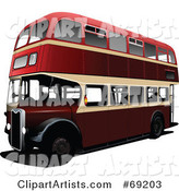 3d Vector Double Decker Clipart by Leonid