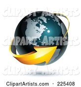 3d Vector Globe Clipart by Beboy