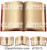 3d Vector Open Book Clipart by Cidepix