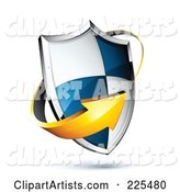 3d Vector Shield Clipart by Beboy