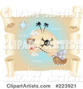 3d Vector Treasure Map Clipart by Cidepix