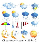 3d Vector Weather Clipart by Vectorace