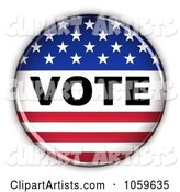 3d Vote Clipart by Stockillustrations