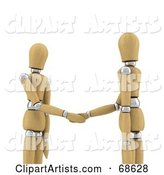 3d Wood Mannequin Clipart by Stockillustrations
