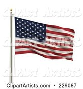 American Flag Clipart by Stockillustrations