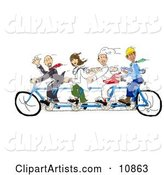Bicycle Clipart by Spanky Art