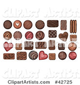 Chocolate Clipart by Gina Jane