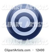 Blue Bullseye Target Circle Icon Internet Button
