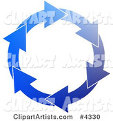 Blue Environmental Circle of Arrows