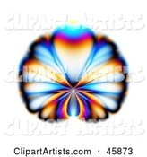 Colorful Butterfly or Peacock Fractal Design on White