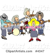 Country Western Band Playing Country Music