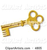Decorative Ancient Gold Skeleton Key