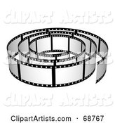 Film Strip Roll with Blank Frames