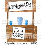 Funny Lemonade Stand Operated by Children